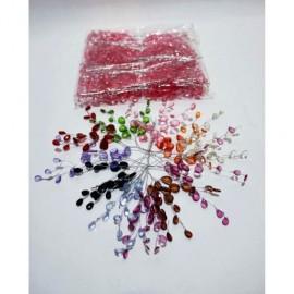 Lant Margele Plastic Crengute Mici 50/set
