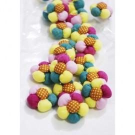 Ornamente Din Textil Floricele Decorative Colorate
