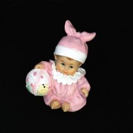 Figurine Tort Botez Bebe Cu Jucarie Rasina