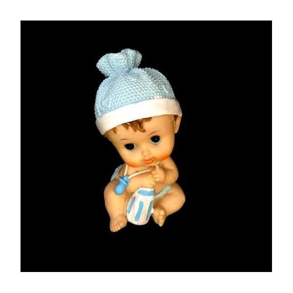 Figurina Tort Botez Bebe Cu Suzeta Rasina