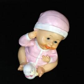 Figurina Tort Botez Bebe Mare rasina