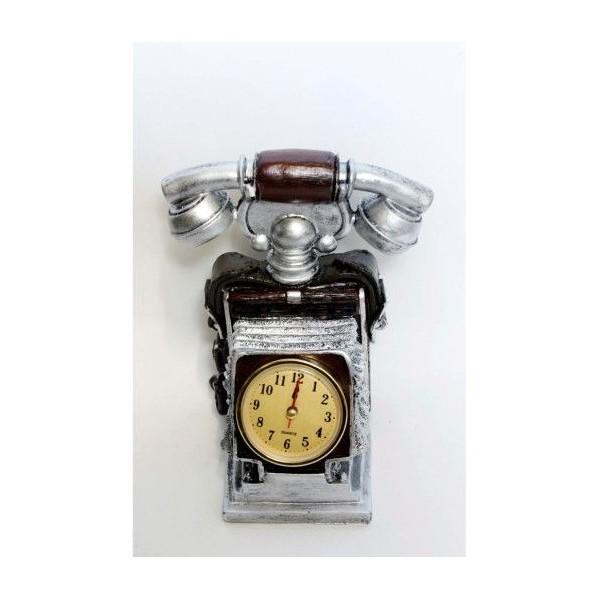 BIbelou Rasina Cu Ceas Telefon Argintiu