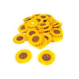 Ornamente Din Lemn Floarea Soarelui Cu Adeziv 50/set